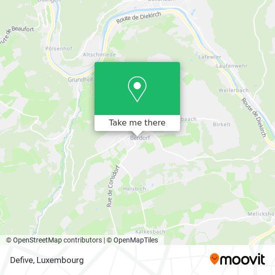 Defive map