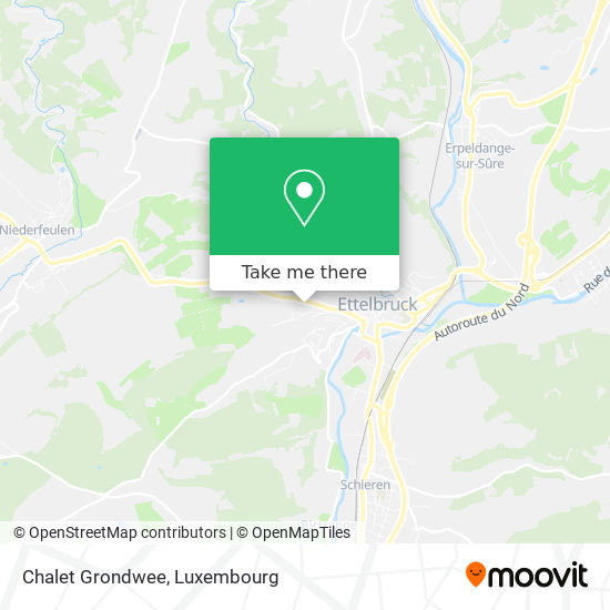 Chalet Grondwee map