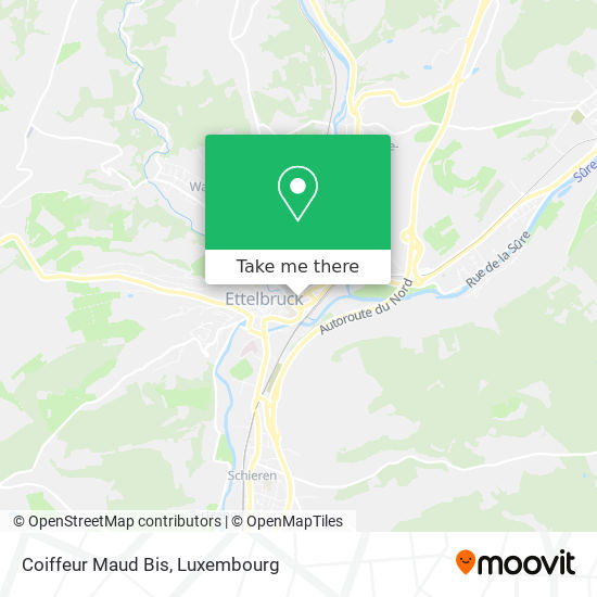 Coiffeur Maud Bis map