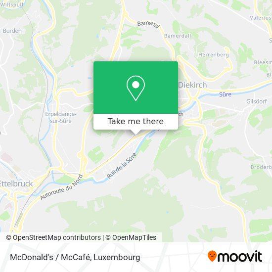 McDonald's / McCafé map
