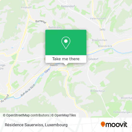 Résidence Sauerwiss map