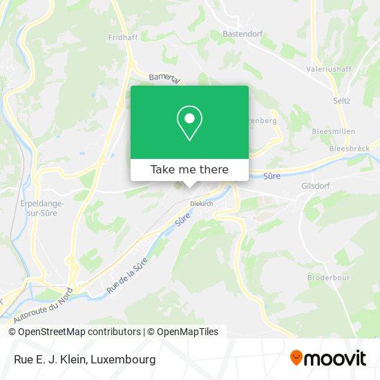 Rue E. J. Klein map