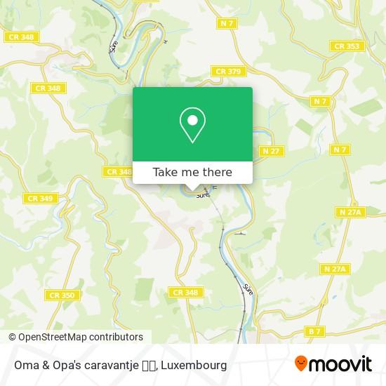 Oma & Opa's caravantje 🌲🌸 Karte