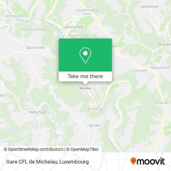 Gare CFL de Michelau map