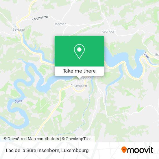 Lac de la Sûre Insenborn mapa