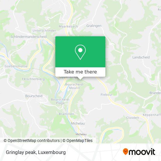 Gringlay peak map