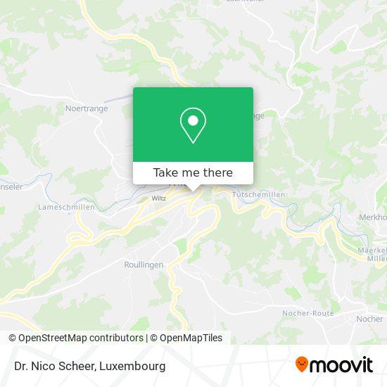 Dr. Nico Scheer map