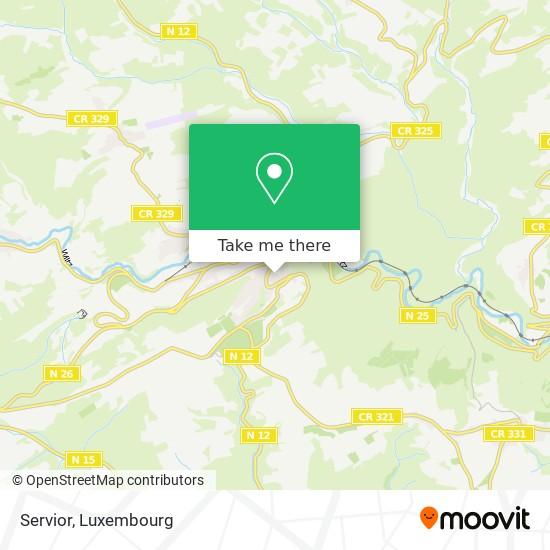 Servior map