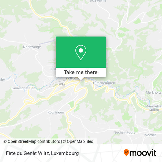 Fête du Genêt Wiltz map