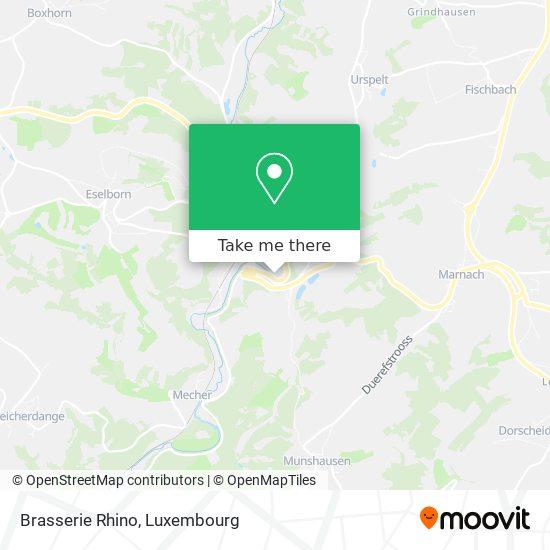 Brasserie Rhino map