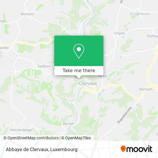 Abbaye de Clervaux map