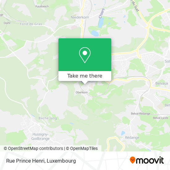 Rue Prince Henri map