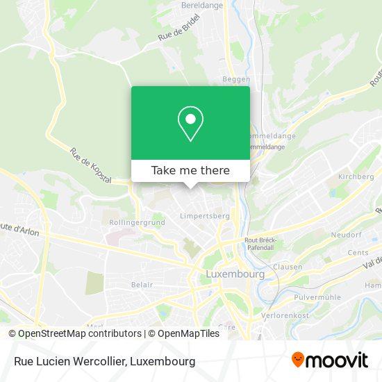 Rue Lucien Wercollier map