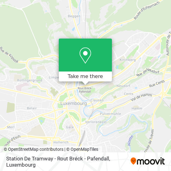 Station De Tramway - Rout Bréck - Pafendall map