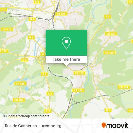 Rue de Gasperich map