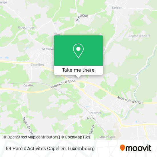 69 Parc d'Activites Capellen map