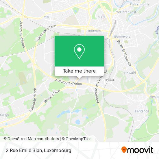 2 Rue Emile Bian map