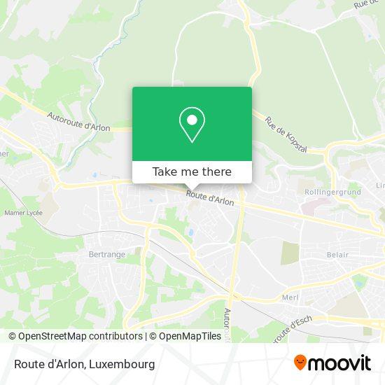 Route d'Arlon map