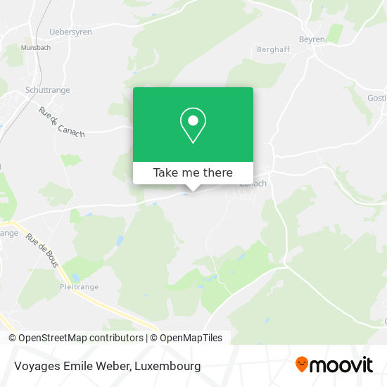 Voyages Emile Weber map