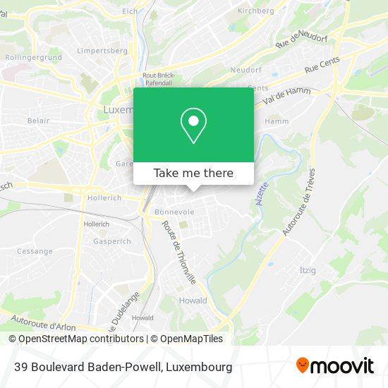 39 Boulevard Baden-Powell map