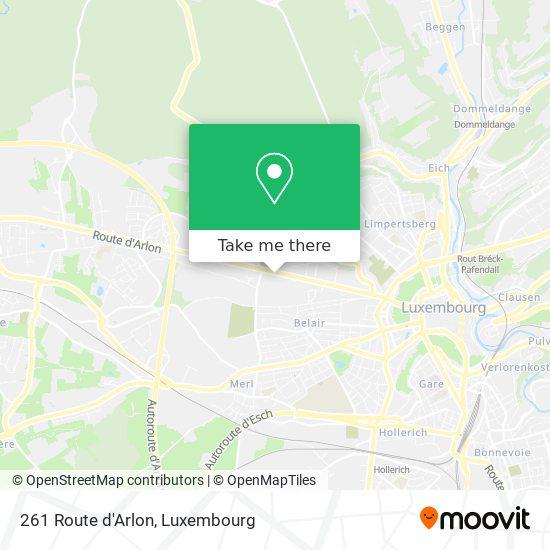 261 Route d'Arlon map