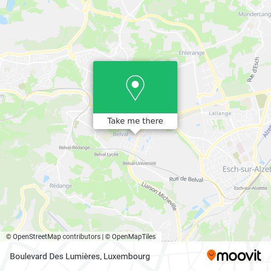 Boulevard Des Lumières map