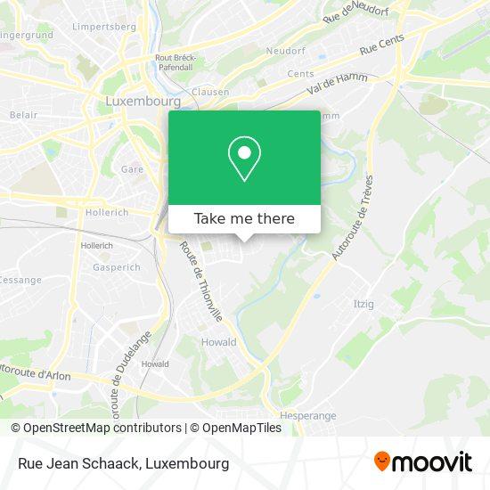 Rue Jean Schaack map