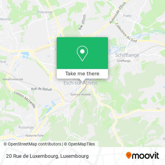 20 Rue de Luxembourg map
