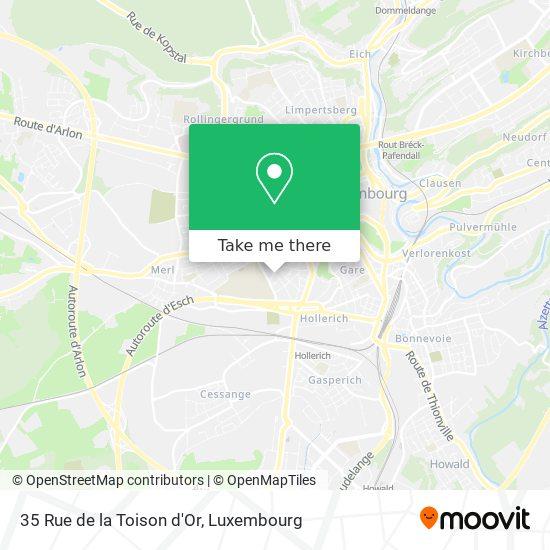 35 Rue de la Toison d'Or map