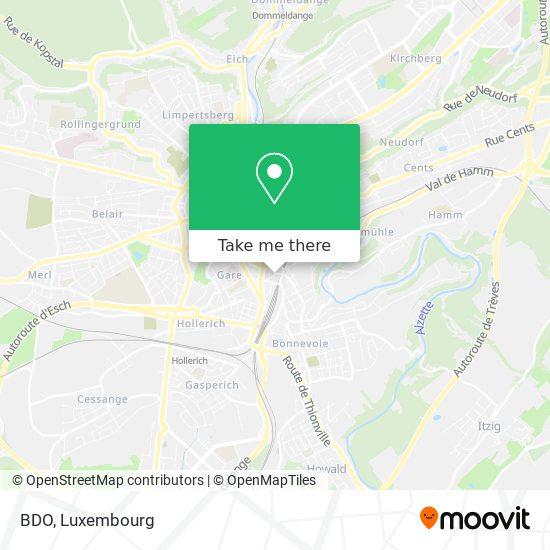 BDO map