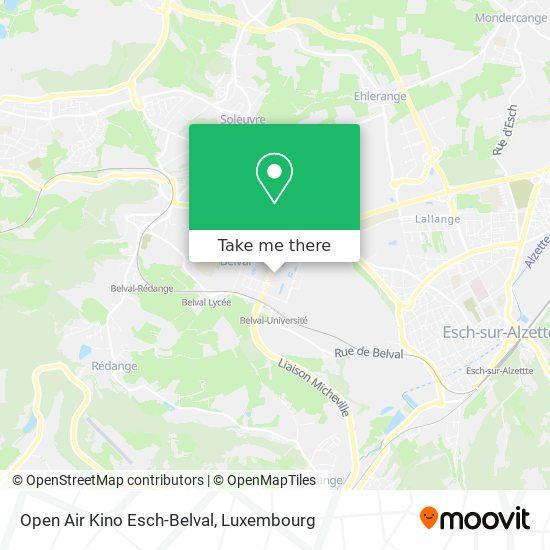 Open Air Kino Esch-Belval map