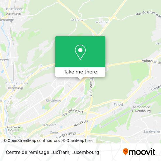 Centre de remisage LuxTram map