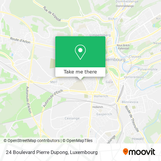 24 Boulevard Pierre Dupong map