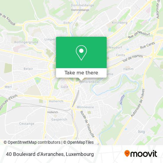 40 Boulevard d'Avranches map