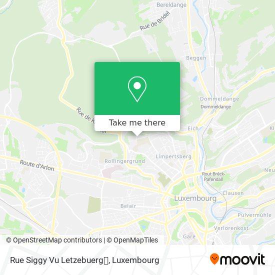 Rue Siggy Vu Letzebuerg map