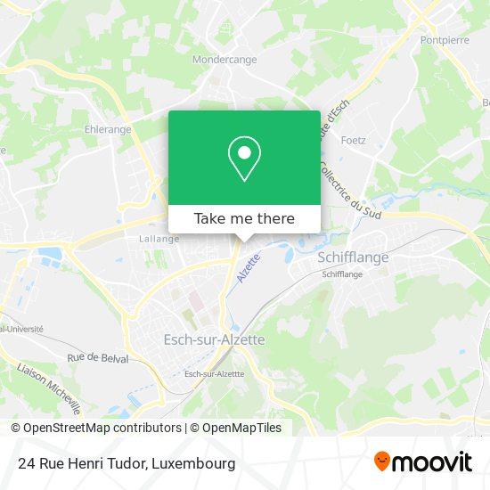 24 Rue Henri Tudor map