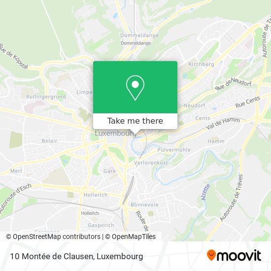 10 Montée de Clausen map