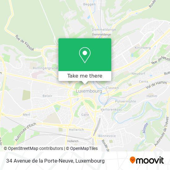 34 Avenue de la Porte-Neuve map