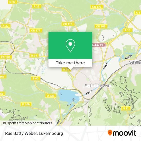 Rue Batty Weber map