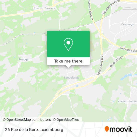 26 Rue de la Gare map