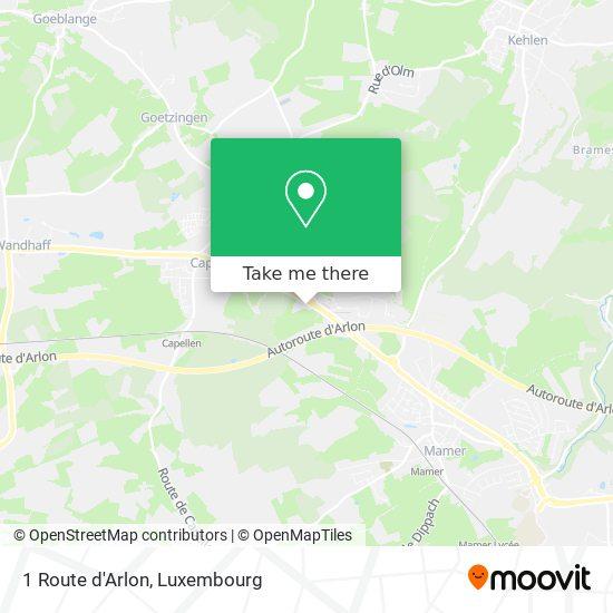 1 Route d'Arlon map