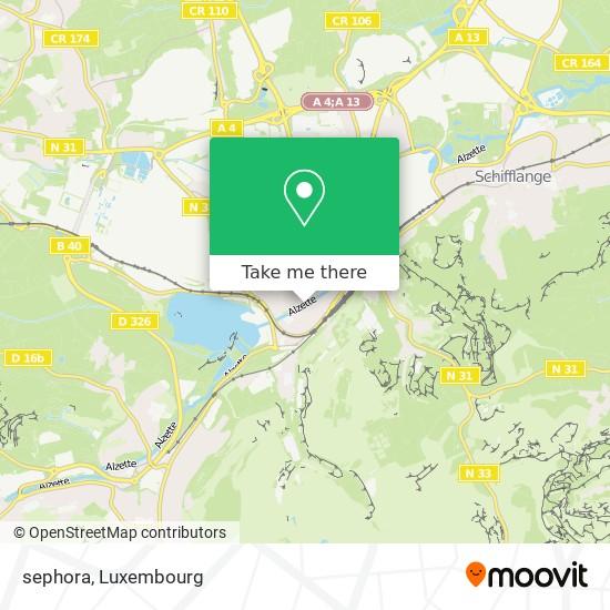 sephora map