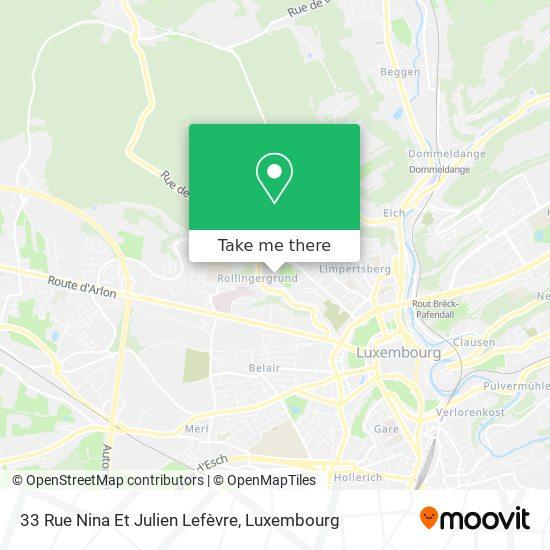 33 Rue Nina Et Julien Lefèvre map