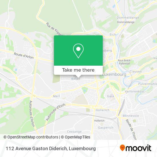 112 Avenue Gaston Diderich map