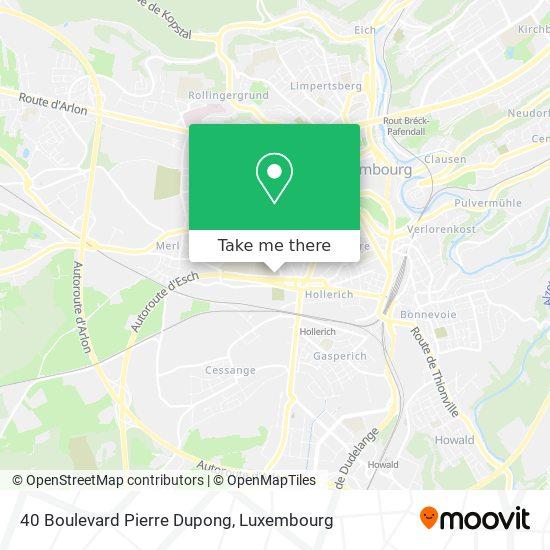 40 Boulevard Pierre Dupong map
