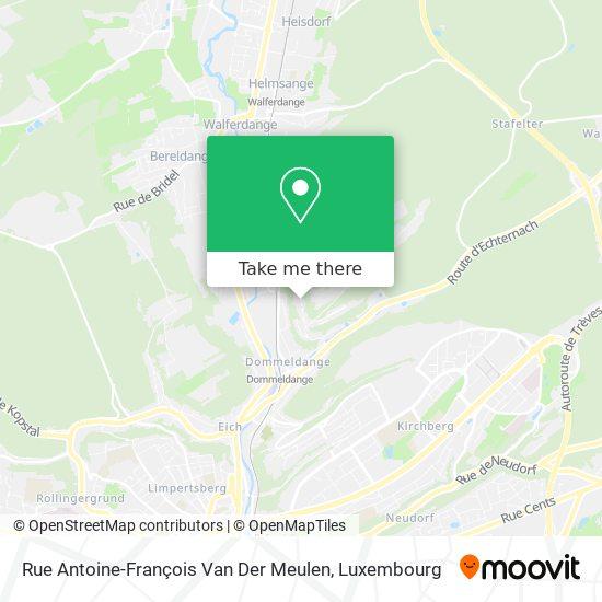 Rue Antoine-François Van Der Meulen map