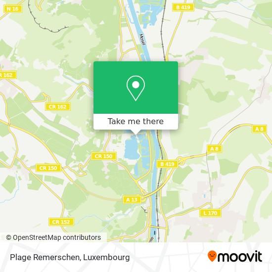 Plage Remerschen map
