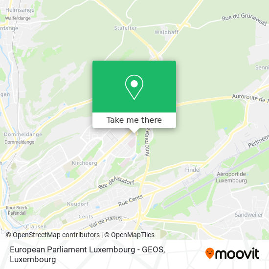 European Parliament Luxembourg - GEOS map