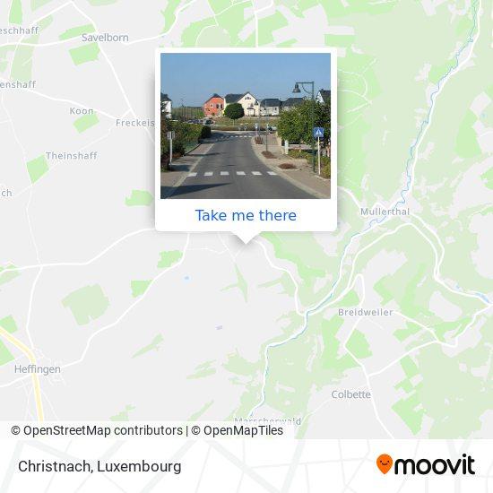 Christnach map