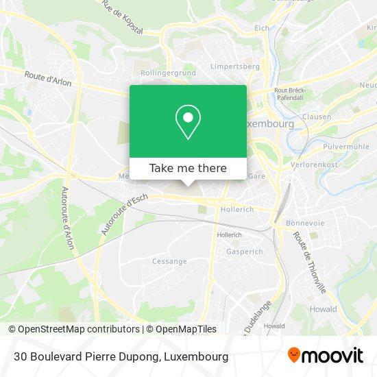 30 Boulevard Pierre Dupong map